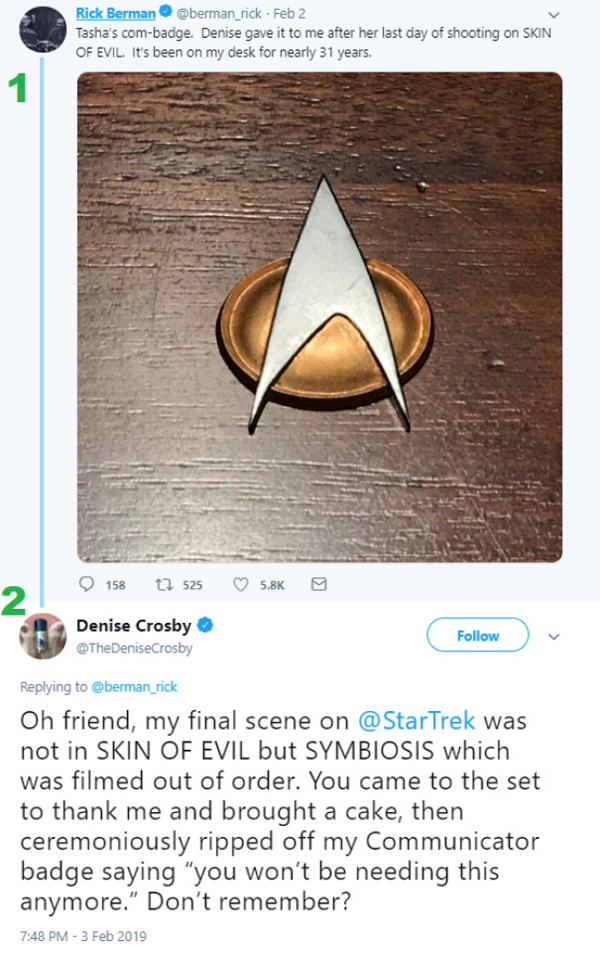 people being called out star trek badge