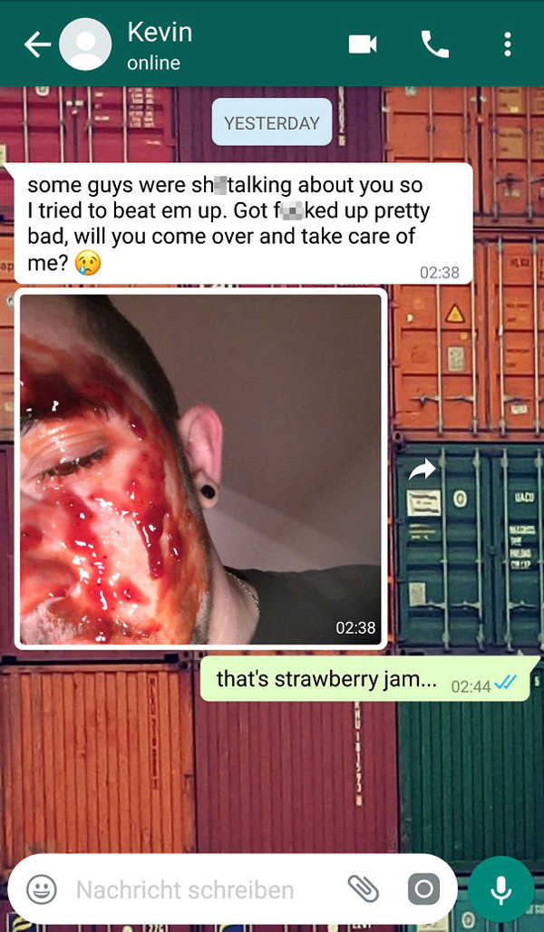 people being called out strawberry jam blood