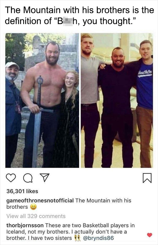 people being called out the mountain brothers