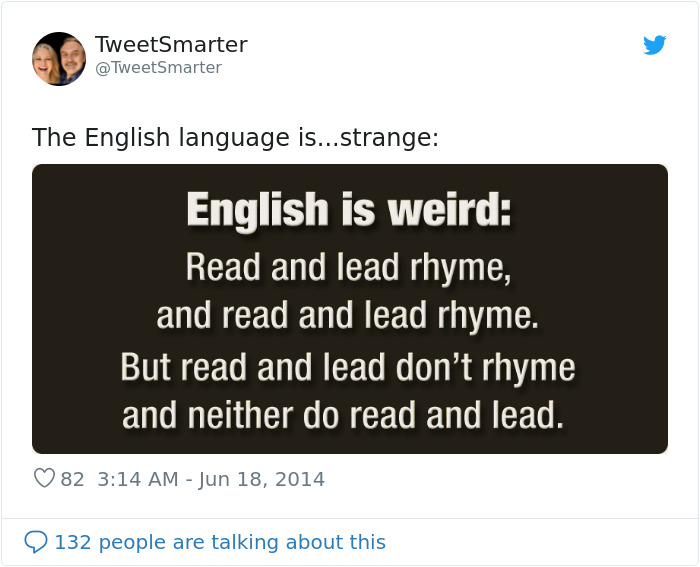 read lead confusing english language