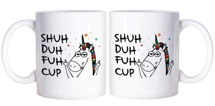 shuh duh fuh cup coffee mug double sided print