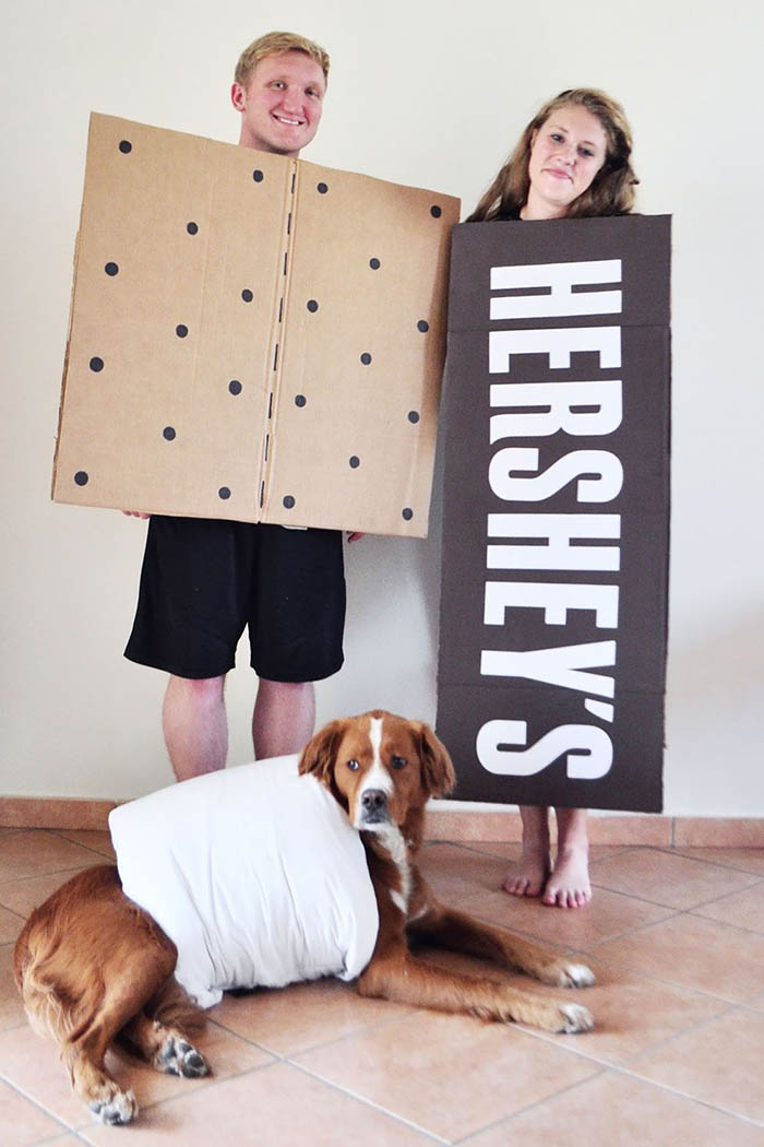 S'Mores Marshmallow Dog Costume