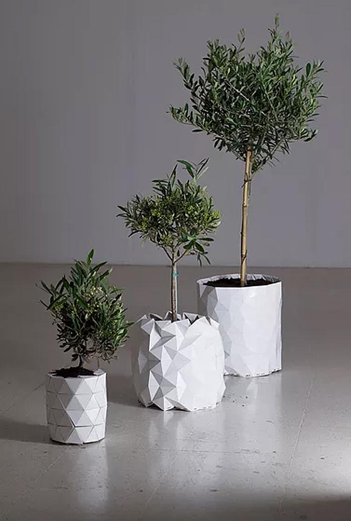 studio ayaskan shape-shifting origami planter transformation