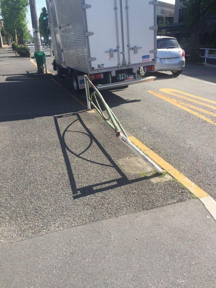 shadow optical illusions road rail