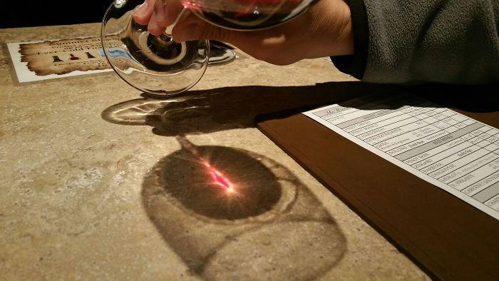 shadow optical illusions sauron wine
