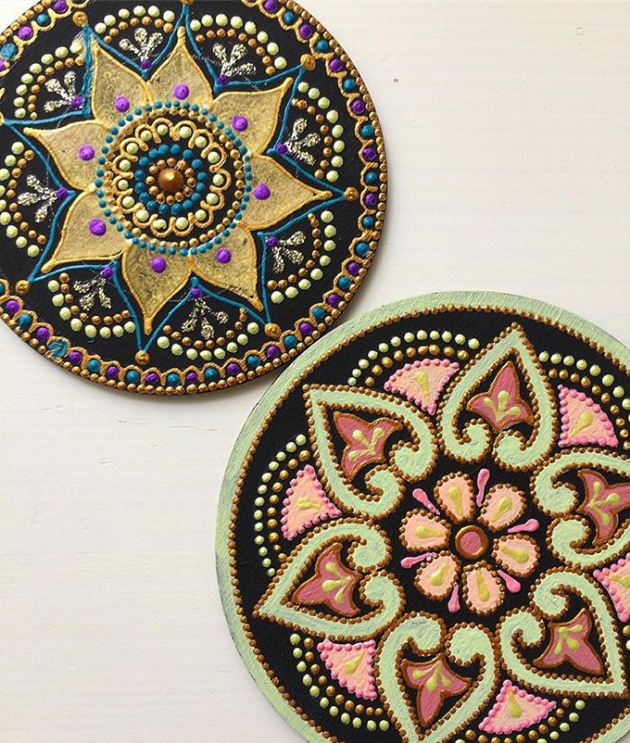 tableware mandala art ceramic plates anastasia safonov