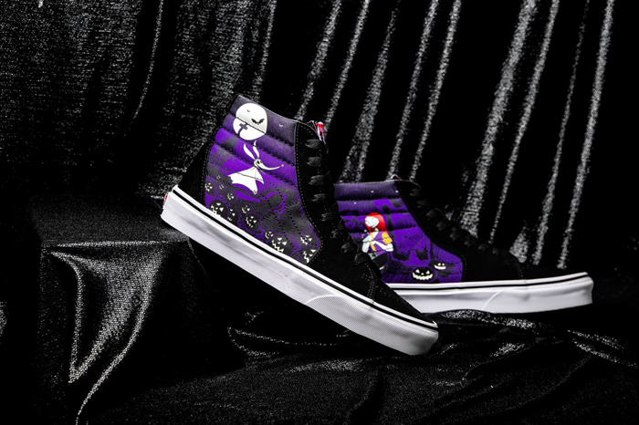 the nightmare before christmas vans collection purple sk8 hi