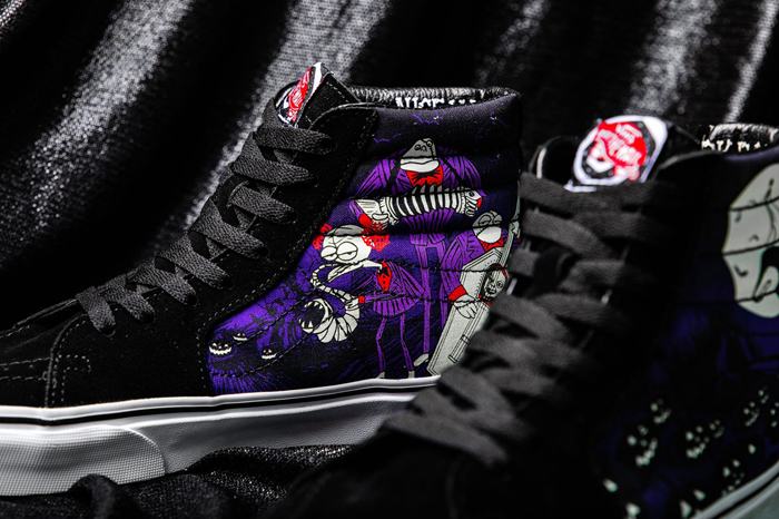 the nightmare before christmas vans collection zombie band sk8 hi