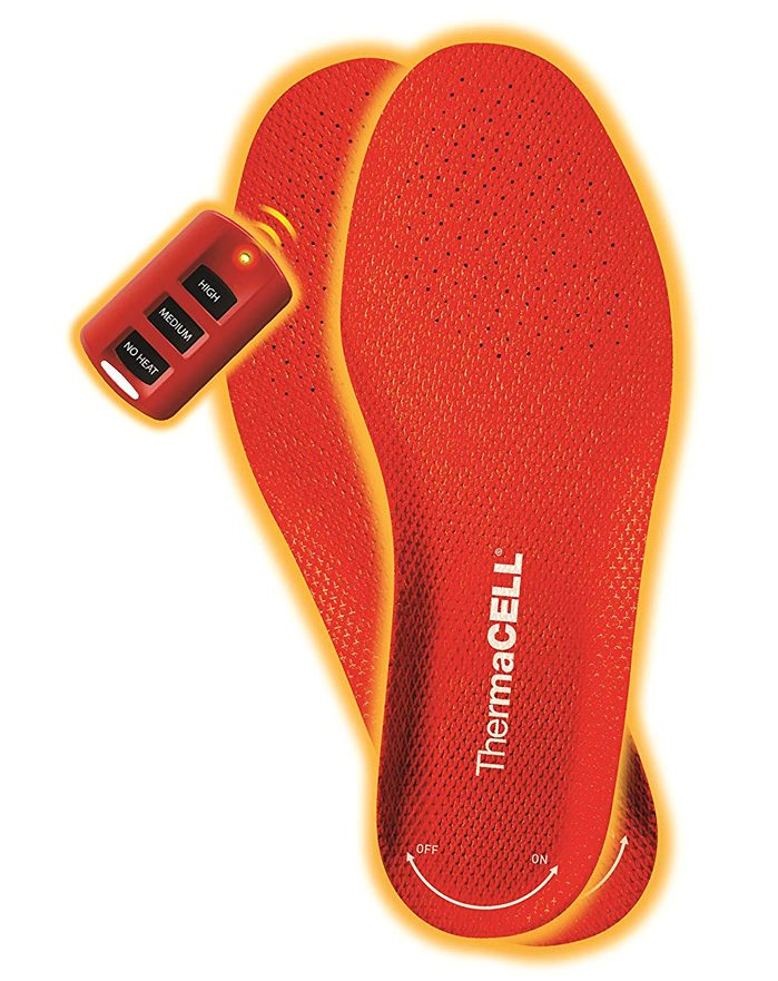 thermacell rechargeable heated shoe insoles