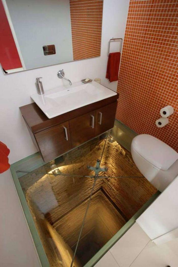 Weirdest Toilet glass floor
