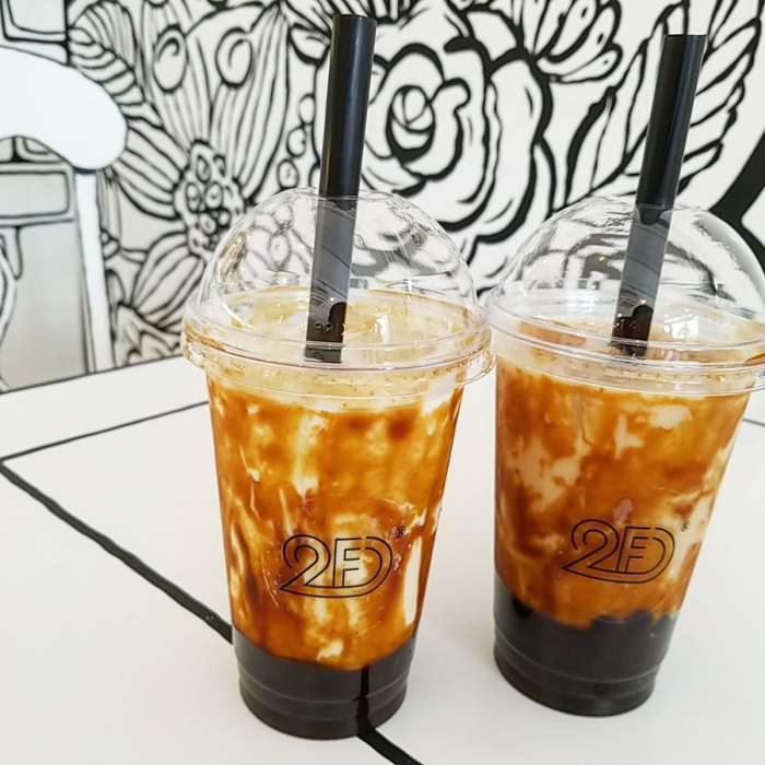 tokyo 2d cafe brown sugar milk tea