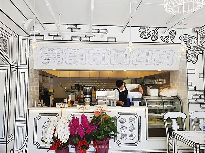 tokyo 2d cafe counter