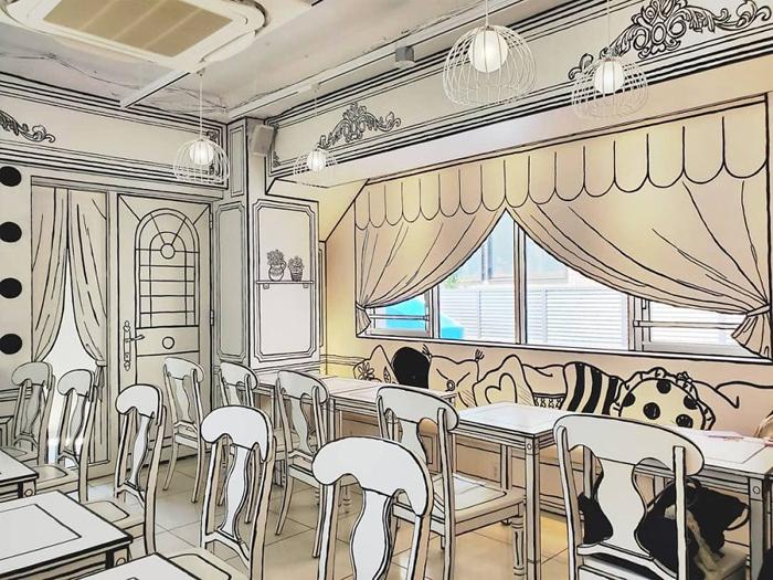 tokyo 2d cafe monochrome decor