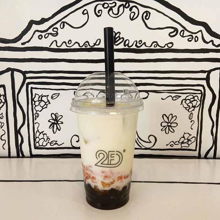 tokyo 2d cafe peach milk tea