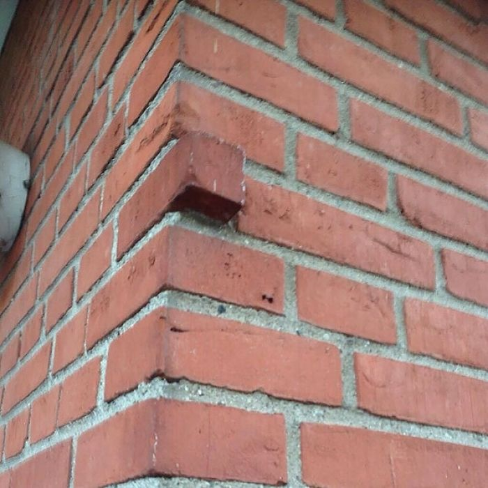 uncomfortable imperfections photos excess brick