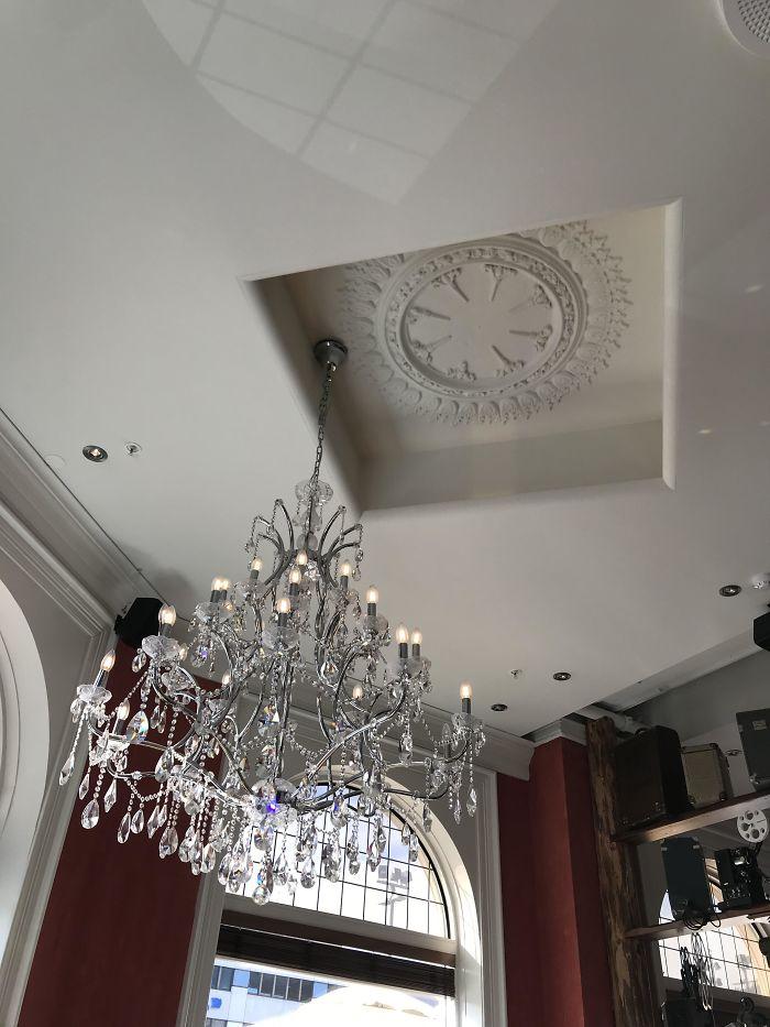 uncomfortable imperfections photos restaurant chandelier