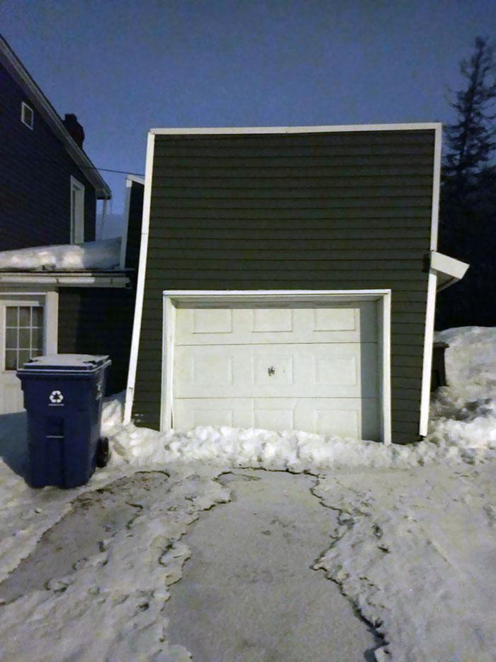 uncomfortable imperfections photos slanted garage