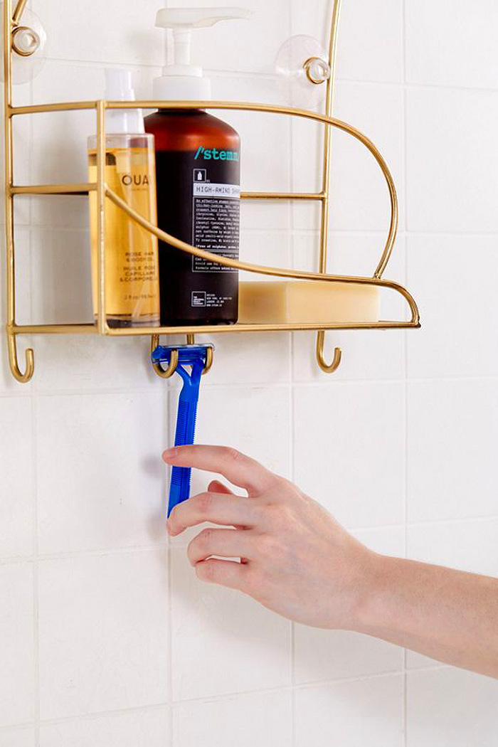 urban outfitters cat shower caddy shelf hooks