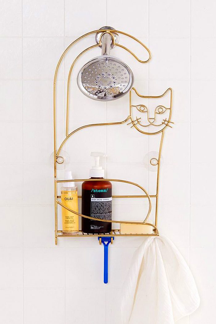 urban outfitters cat shower caddy