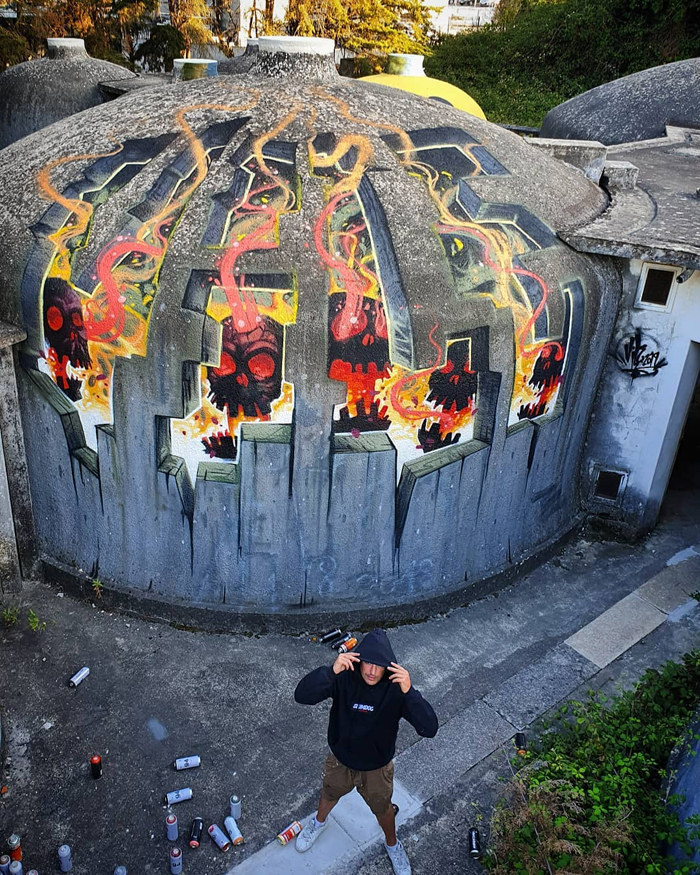 vile amazing street art illusions dome