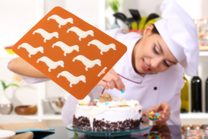wiener dog ice cube mold and tray cake decor