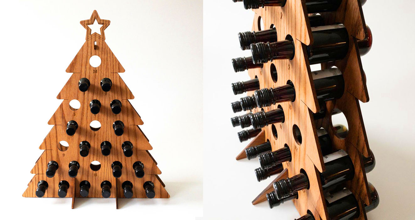 Wine Bottle Christmas Tree Rack.This Wine Bottle Advent Calendar Is The Perfect Way To
