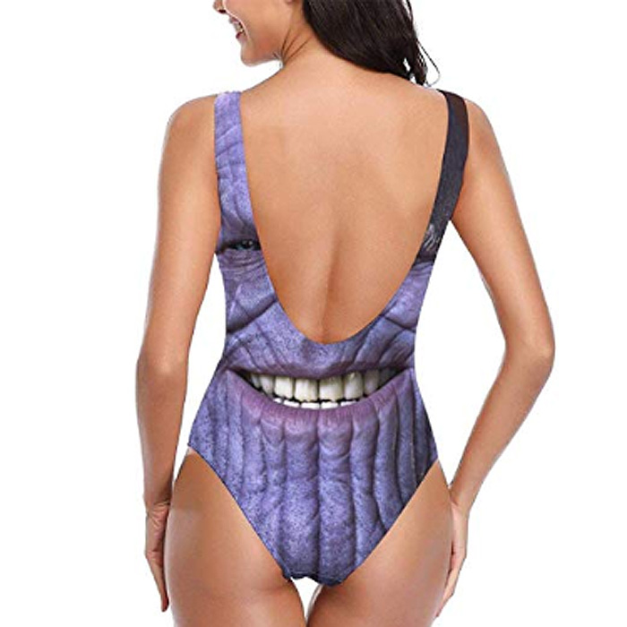 women one-piece thanos swimsuit back