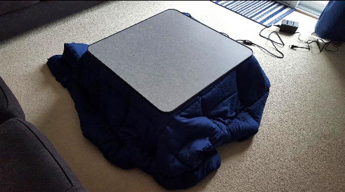 yamazen heated kotatsu table actual