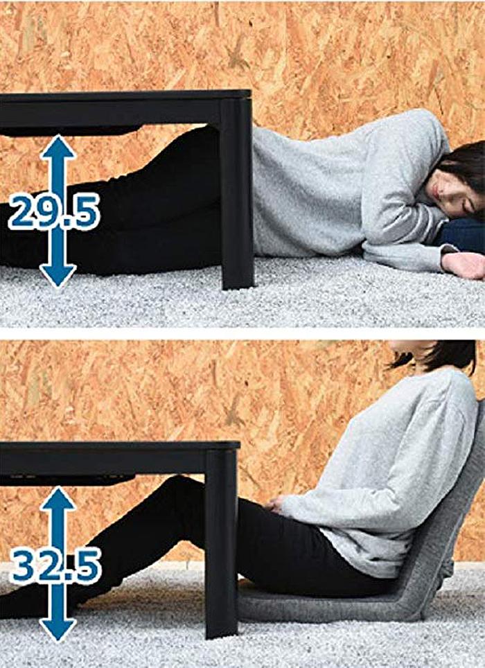yamazen heated kotatsu table dimensions
