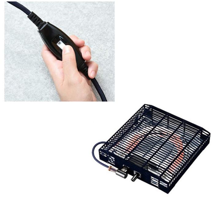yamazen heated kotatsu table heater switch