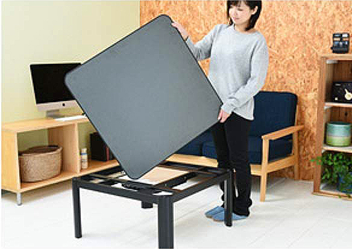 yamazen table reversible tabletop