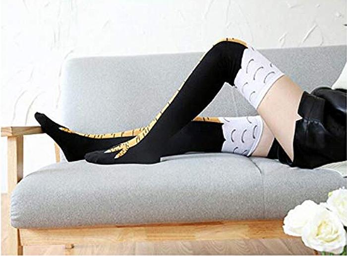 yellow chicken leg socks