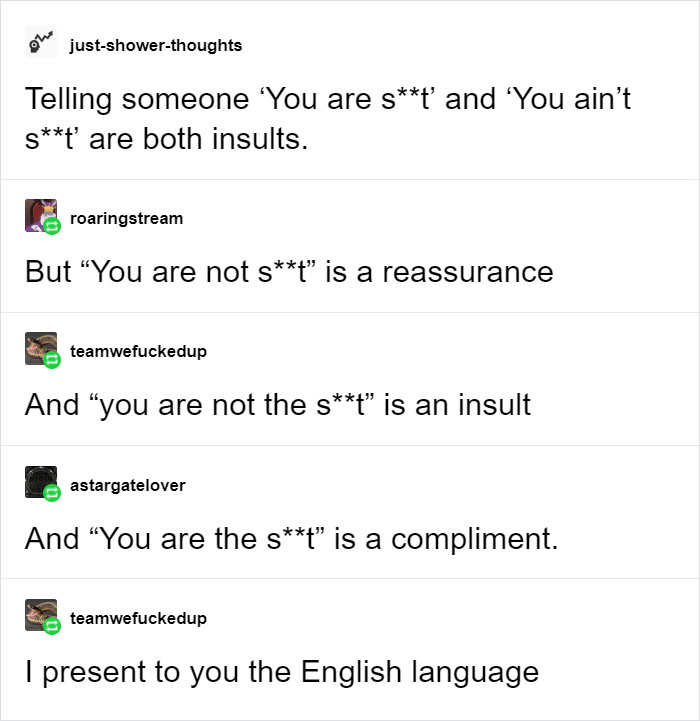 you are shit confusing english language