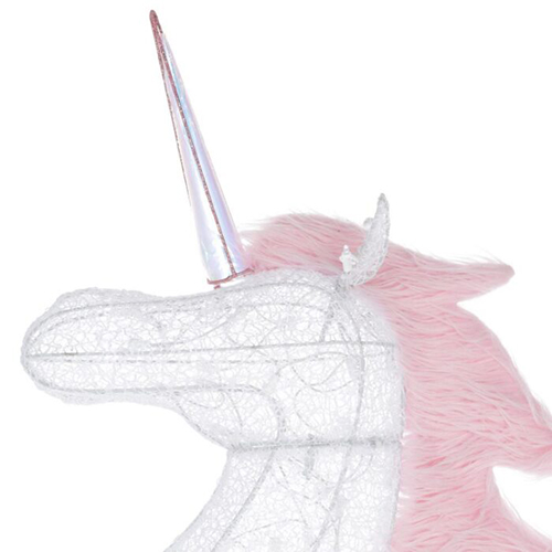 6-Foot Majestic Unicorn Decoration horn detail