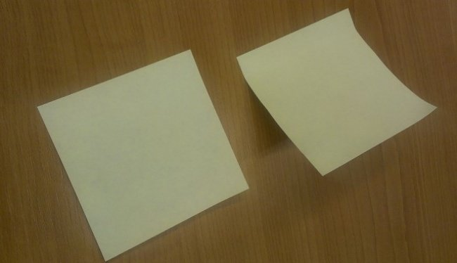 A Sticky Note Peeled Correctly Versus a Sticky Note Peeled Incorrectly Things You Didn't Know