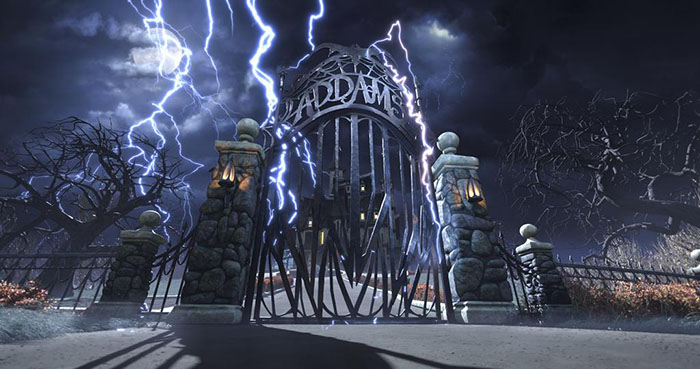 Addams Family Animated Movie Mansion Facade