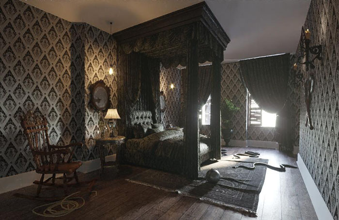 Addams Family Mansion Gomez and Morticia's Bedroom