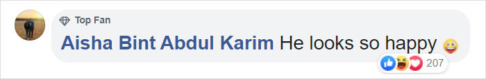 Aisha Bint Abdul Karim Facebook Comment