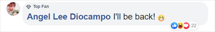 Angel Lee Diocampo Facebook Comment