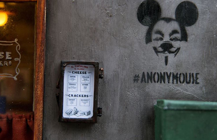 AnonyMouse Logo on Wall