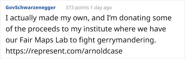 Arnold Schwarzenegger Reply on Reddit 2