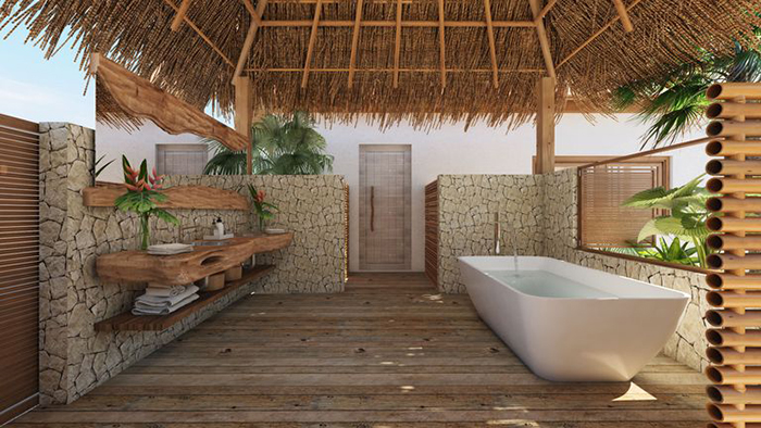 Bath area at Kanu Private Island
