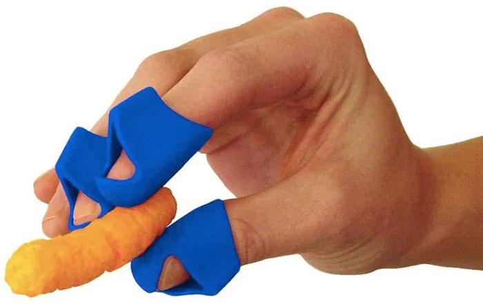 Blue Finger Food Protector