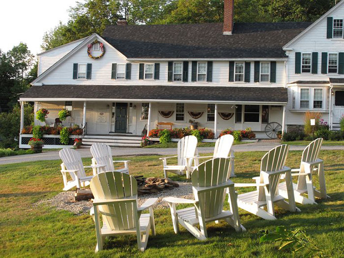 Christmas Farm Inn & Spa Main Inn and Outside Patio