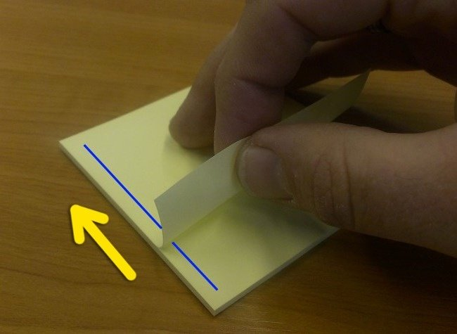Correct Way of Peeling a Sticky Note