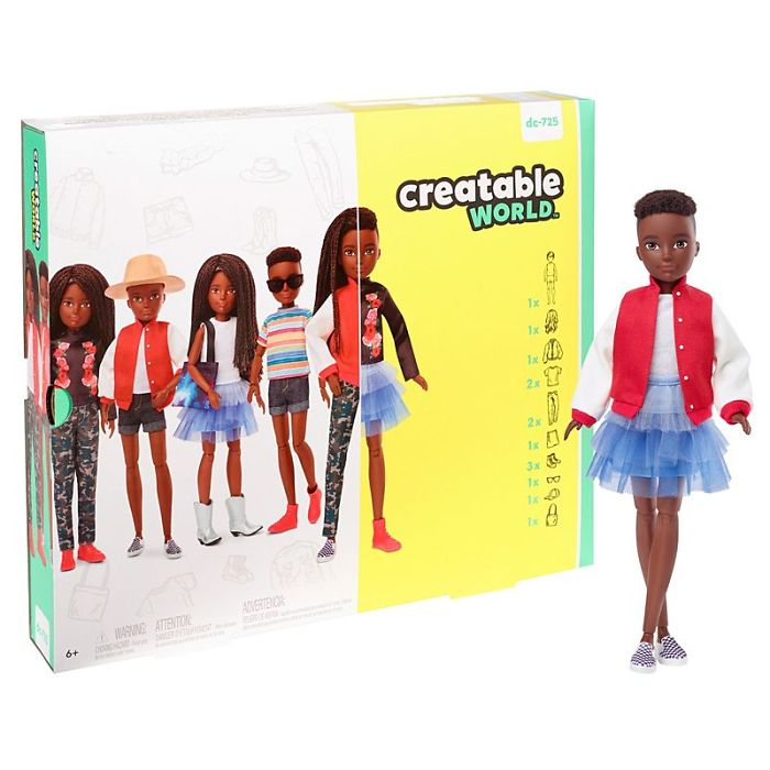 Creatable World Deluxe Character Kit Customizable Doll - Black Braided Hair