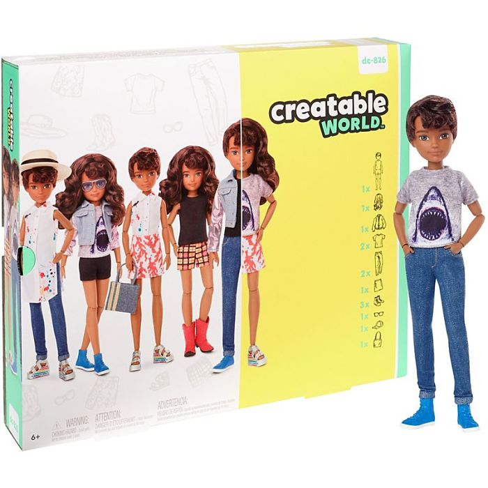 Creatable World Deluxe Character Kit Customizable Doll - Brunette Wavy Hair