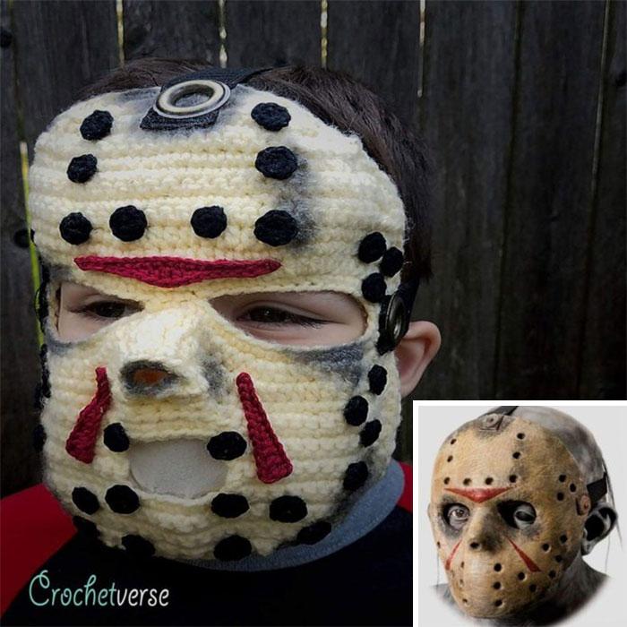 Crochet Jason Voorhees Mask