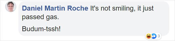 Daniel Martin Roche Facebook Comment