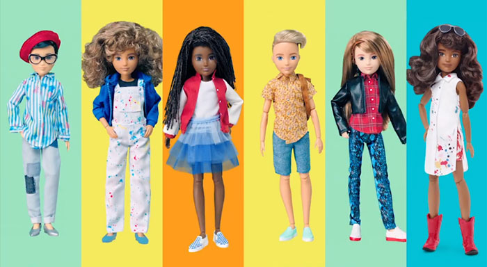 Different Gender-neutral Doll Looks